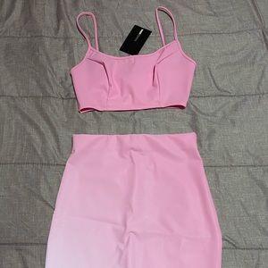 Glowing reflective pink set